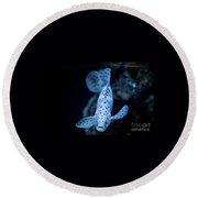 Blue Spotted Aquarium Fish Round Beach Towel