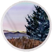 Blue Spruce Round Beach Towel
