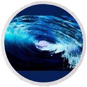 Blue Stew Round Beach Towel
