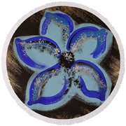 Blue Summer Round Beach Towel