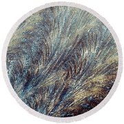 Blue Supernova - Hoarfrost Round Beach Towel