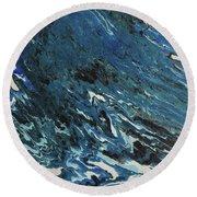 Blue Surf Round Beach Towel