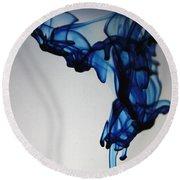 Blue Swirls Round Beach Towel