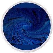 Blue Thunder Round Beach Towel