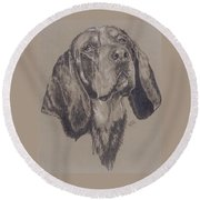 Blue Tick Coonhound Round Beach Towel