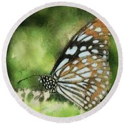 Blue Tiger Round Beach Towel
