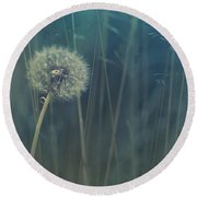 Blue Tinted Round Beach Towel