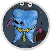 Blue Tooth Round Beach Towel