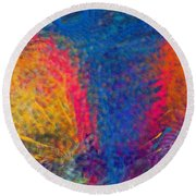 Blue Tornado 3 Round Beach Towel