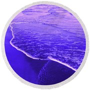 Blue Wash Round Beach Towel
