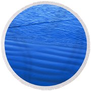 Blue Water And Shore Round Beach Towel