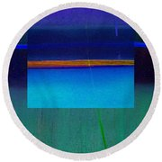 Blue Water Round Beach Towel