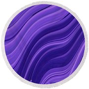 Blue Wave Round Beach Towel