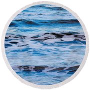 Blue Waves Round Beach Towel