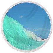 Blue Wonder Round Beach Towel