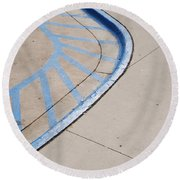 Blue Zone Round Beach Towel