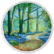 Bluebell Walk Round Beach Towel