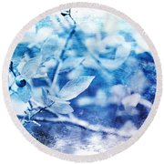 Blueberry Blues Round Beach Towel