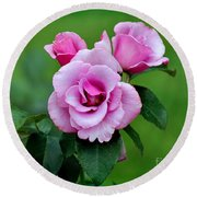 Blueberry Hill Roses Round Beach Towel