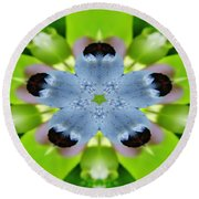 Blueberry Kaleidoscope Round Beach Towel