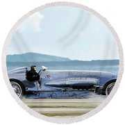 Bluebird II, 1928, World Record Land Speed Record At Pendine Sands, Wales, 178.88 Mph Round Beach Towel