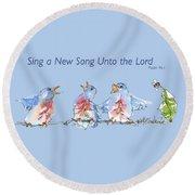 Bluebirds Singing A New Song Bd002 Round Beach Towel