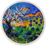 Bluecornflowers 451120 Round Beach Towel