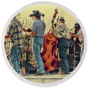 Bluegrass Evening Round Beach Towel