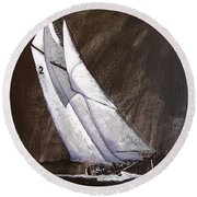 Bluenose At Night Coming Round Beach Towel