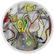 Blues And Rock Round Beach Towel