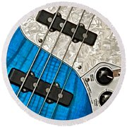 Blues Bass Round Beach Towel