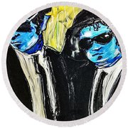 Blues Brothers Round Beach Towel