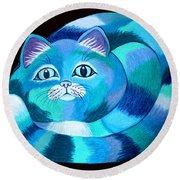 Blues Cat Round Beach Towel