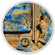 Blues Dues Round Beach Towel