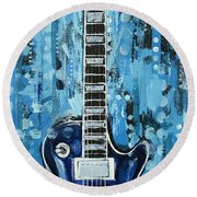 Blues Guitar Round Beach Towel