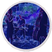 Blues Round Beach Towel