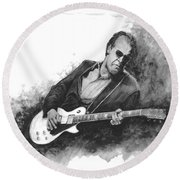 Blues Man Joe B. Round Beach Towel