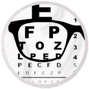 Blurry Eye Test Chart Round Beach Towel