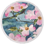 Blushing Prettily Round Beach Towel