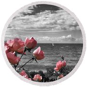 Blustery Summer's Day  Round Beach Towel