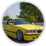 Bmw M3  Round Beach Towel