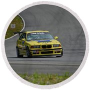 Bmw M3 Tire Rack Round Beach Towel