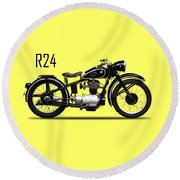 The R24 Motorcycle Round Beach Towel