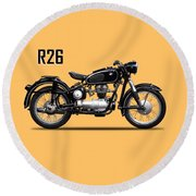 The R26 Motorcycle Round Beach Towel