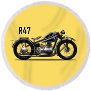 The R47 Motorcycle Round Beach Towel
