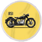 The R51 Motorcycle Round Beach Towel
