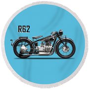 The R62 Motorcycle Round Beach Towel