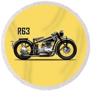 The R63 Motorcycle Round Beach Towel