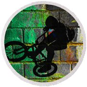 Bmx II Round Beach Towel