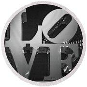 Bnw Philly Love 0218b Round Beach Towel